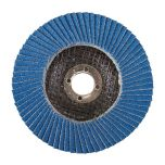 """Zircon Flap 4"""" 100mm Disc 80-Grit with 5/8 16mm Off-Set Bore"""