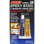 Steel Epoxy 4-Minute Kwik-Set Mends Steel Brass Copper