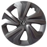 "Hamilton 14"" Wheel Trims Set Carbon & Metallic Grey"