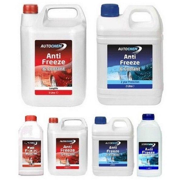 Blue & Red Antifreeze Coolant