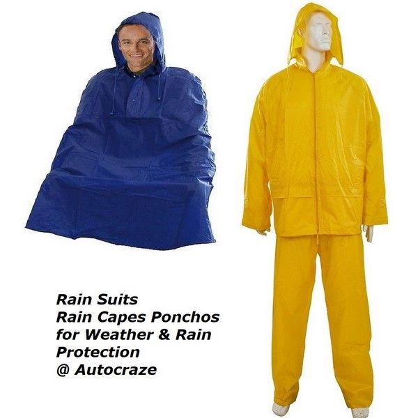 Rain Suits and Rain Capes Ponchos for Weather & Rain Protection @ Autocraze