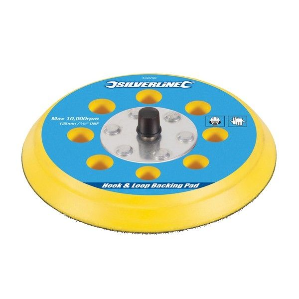 / 125mm Hoop & Loop Rubber Backing Pad Male 5/16
