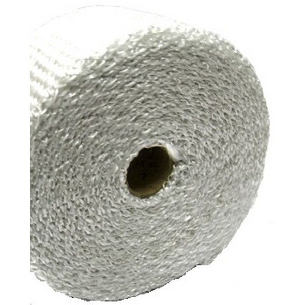 E-Tech  White Coloured Exhaust Wrap 2in=50mm X 16ft=5M