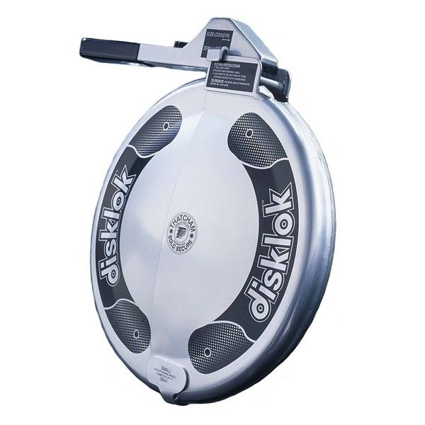 Disklok Silver Finish Small  Suits 35cm -to- 39cm Steering Wheels