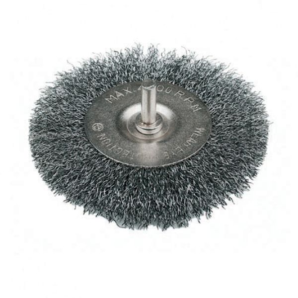 "Rotary Wire Wheel Brush 75mm 3"" Diameter Flat Type"