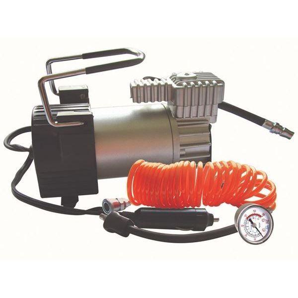 12-Volt Air Compressor Hi Speed Inc Storage 5M Coiled Cable