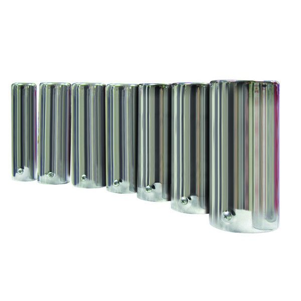 41mm to 75mm Chromed Steel Straight with Rolled Edge Exhaust Trim