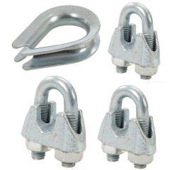 Wire Rope Cable  Bull Clamps 10-pcs per pack & Thimble Range 10-pcs per pack @ Autocraze