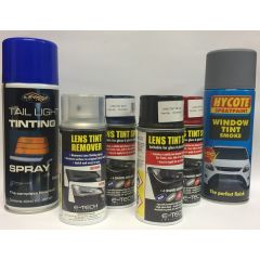 Assorted Tint Sprays for Lights and Windows