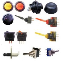 Autocraze 12v Electrical Flick Rocker & Push Button Switches Range