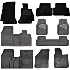 Autocraze Luxury Premium Fully Tailored & Semi-Tailored Carpet and Rubber Car Mats Full Sets of 4