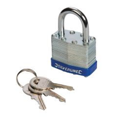 Laminated 40mm Padlock  Hardened Steel