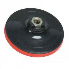 "5""/ 12.5cm Hoop & Loop Rubber Backing Pad with Female M14 Drive"