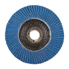 """Zircon Flap 4"""" 100mm Disc 40-Grit with 5/8 16mm Off-Set Bore"""