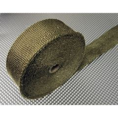 E-Tech  Titanium Coloured Exhaust Wrap 2in=50mm X 16ft=5M
