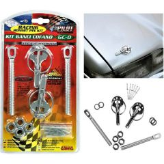 Classic Racing Style Quick Release Alloy Bonnet Pins & Hook Kit