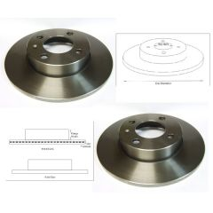 Brake Discs Matched PAIR Seat Cordoba Ibiza VW Golf Polo