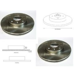 Brake Discs Matched PAIR FRONT Vented Vauxhall Chevrolet etc