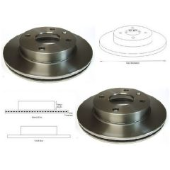 Brake Discs Matched PAIR Escort Mk4 Orion Mk2 Sierra Mk1, Mk2