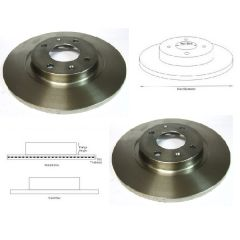 Brake Discs Matched PAIR Citroen BX Peugeot 305 405