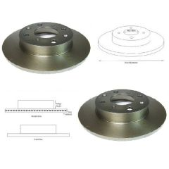 Brake Discs Matched PAIR Honda Civic Rover 213 216