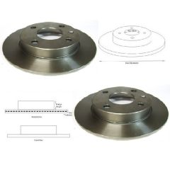 Brake Discs Matched PAIR Escort Mk4 Mk5 Mk6 Mk7