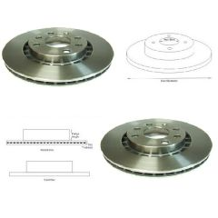 Brake Discs Matched PAIR Dawoo Vauxhall Astra Calibra Vectra