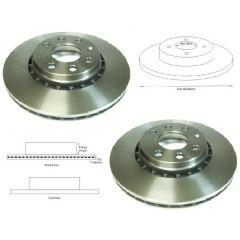 Brake Discs Matched PAIR Vauxhall Astra Cavalier Tigra