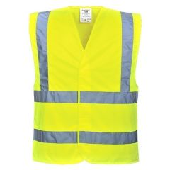 Hi-Viz Large & X-Large Adjustable Yellow Safety Vest