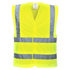 Hi-Viz Medium & Small Adjustable Yellow Safety Vest