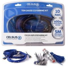 Amp Wiring Kit 10awg=5mm Power Cable RMS 400W Peak 600A Celsus