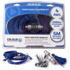 Amp Wiring Kit 4awg=20mm Power Cable RMS 1500W Peak 2000W Celsus