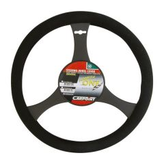 Steering Wheel Glove/ Cover Black 33cm-37cm Std Size