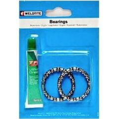 "5/32"" Head-Set Caged Bearings 16 Balls per Cage (2-Cages) & Grease Kit"