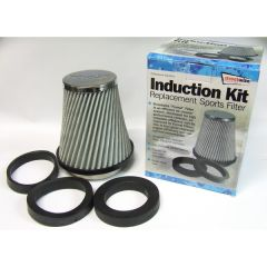 Sports Air Filter Chrome Top Silver Mesh Element body