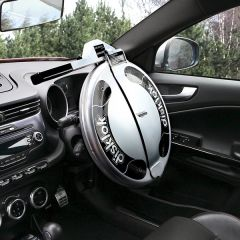 Disklok Silver Finish Medium Suits 39cm -to- 41.5cm Steering Wheels