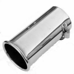 Classic Stainless Steel Rolled Edge Fits 36mm-46mm Exhaust Trim