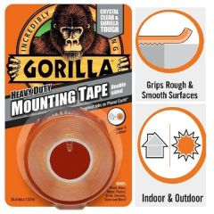 Gorilla Double Sided Heavy Duty Mounting Tape Crystal Clear