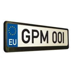 BLACK Number Plate Surround and Holder