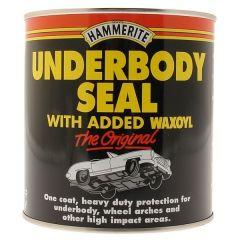 Brush-On Black Under body Seal 500ml Hammerite with Waxoyl