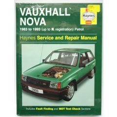 Haynes Workshop Manual Vauxhall Nova Petrol