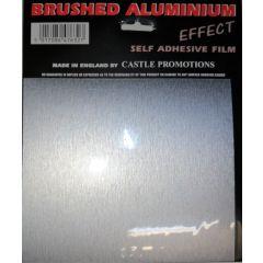 Brushed Aluminium Effect Sheet 22cm X 17.5cm