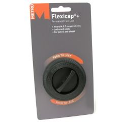 Flexicap-Plus BLACK Permanent Fuel Cap Universal