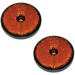 Round Reflectors 2-Piece Pack E-Approved 60mm Diameter