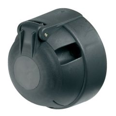 7-Pin 12N Towing Socket Black Plastic