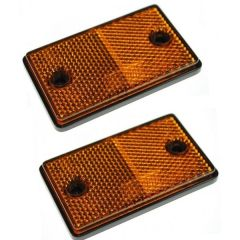 Reflex Amber Reflectors 2-Pieces For Trailers Etc.