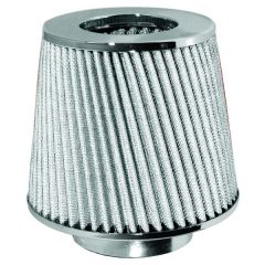 Sports Air Filter Open-Top Silver Mesh Funnel & Body
