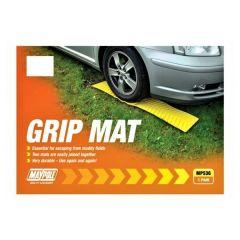 GRIP-MAT Snow/ Grass Mat Set of 2 Helps Traction for a Quick Get-away