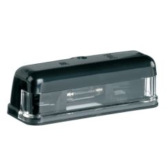 Black Casing Classic D-Shape Number Plate Illumination Lamp