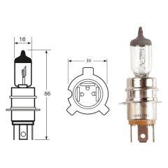 12V 45/55W P30/22L (0471) Special Japanese Halogen Headlamp Bulb